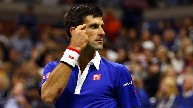 Novak Djokovic a eu un mental d'acier contre Roger Federer en finale de l'US Open 2015 (DR).