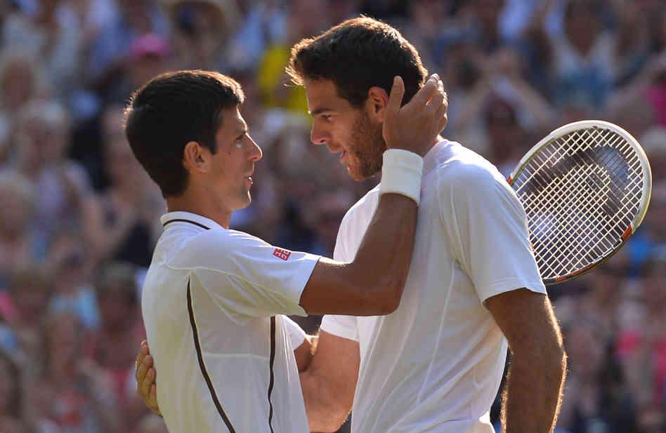 Novak Djokovic et Juan Martin Del Potro font partie des nominés pour le match de l'année (DR)