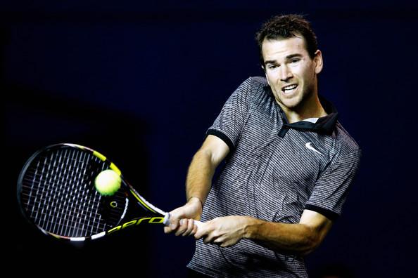 Adrian Mannarino au Masters 1000 de Paris-Bercy 2014 (Dean Mouhtaropoulos - Getty Images)
