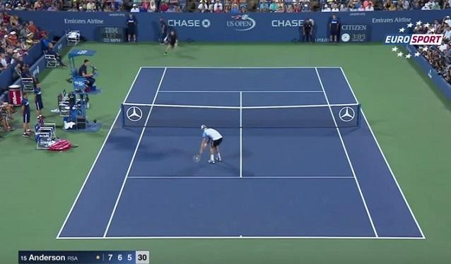 Kevin Anderson a été monstrueux contre Andy Murray en huitièmes de finale de l'US Open 2015.