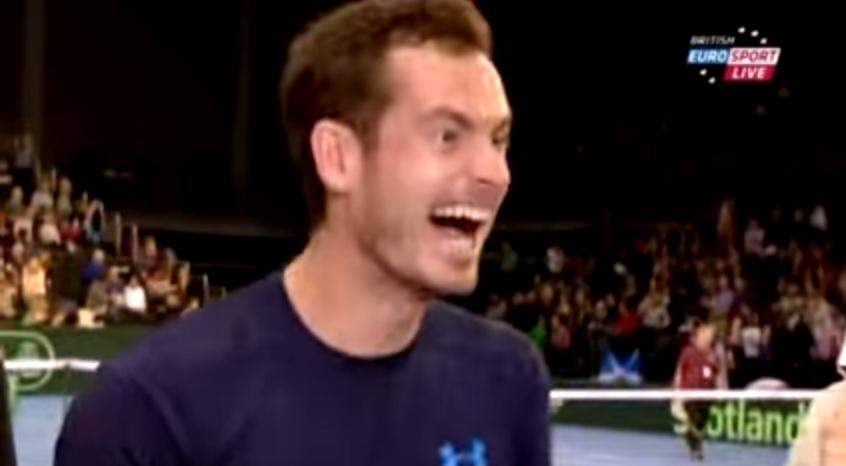 Andy Murray vient de détruire un couple en direct à la télévision.