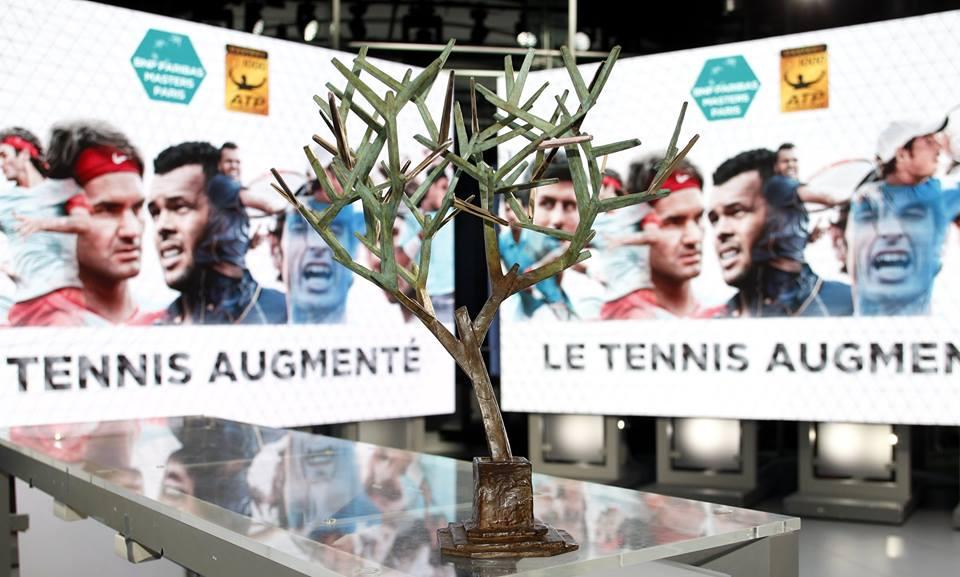 Le trophée remis au vainqueur du Masters 1000 de Paris-Bercy. (© FFT/Cedric Lecocq)