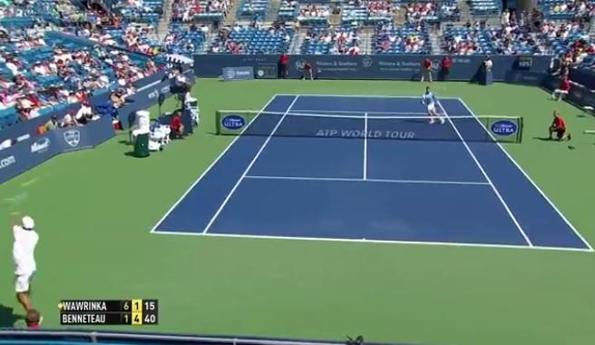 Une défense incroyable de Julien Benneteau au Masters 1000 de Cincinnati 2014.