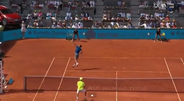 Rafael Nadal a marqué des point superbes au Masters 1000 de Madrid 2014.