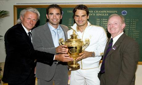 Borg, Sampras, Federer, Laver (Source TheGuardian)