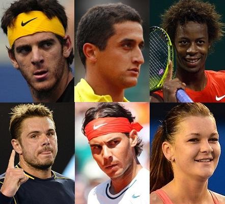 Les six nominés pour le coup droit de l'année 2013.