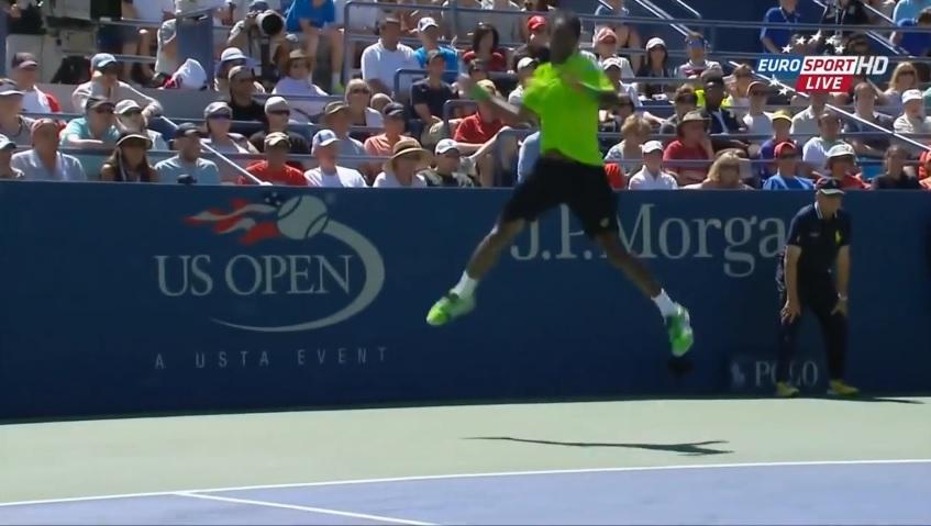 Un coup droit exceptionnel de Gaël Monfils contre Alejandro Gonzalez à l'US Open 2014.