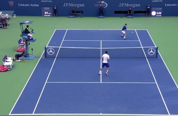 Novak Djokovic en mode humiliation contre Marin Cilic à l'US Open 2015.