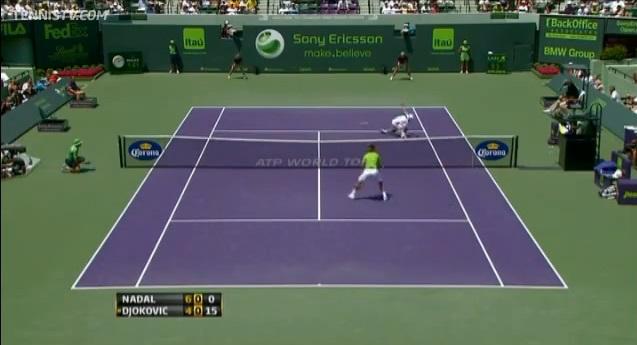 Le point de la finale entre Djokovic et Nadal au Masters 1000 de Miami 2011.