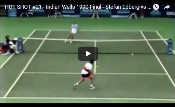 Stefan Edberg était légèrement solide au filet.