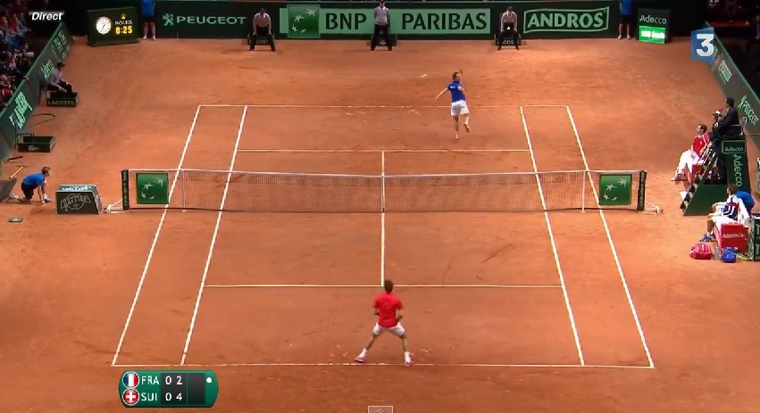 Le plus beau point du match entre Roger Federer et Richard Gasquet en finale de la Coupe Davis 2014.