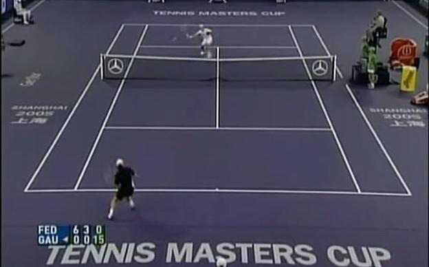 Roger Federer humilie Gaston Gaudio en demi-finales du Masters 2005.