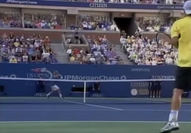 Encore un match de très très haut niveau entre Federer et Hewitt à l'US Open 2005.
