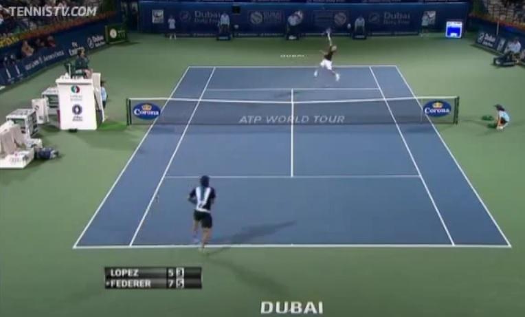 Ce point entre Federer et Lopez
