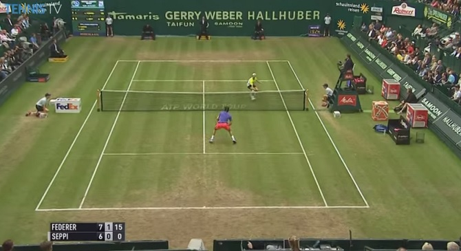 Roger Federer et Andreas Seppi