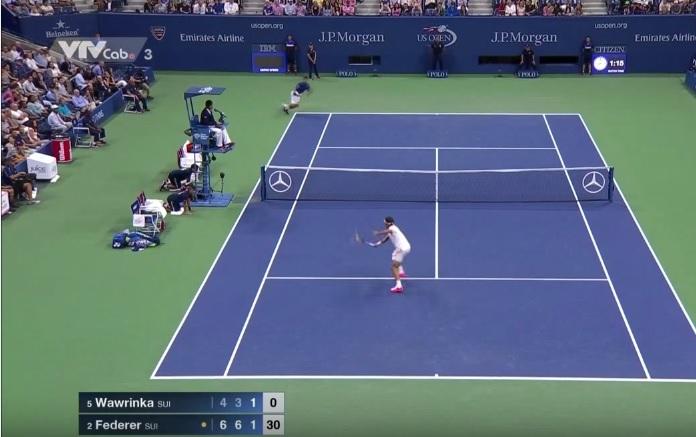 Roger Federer surclasse Stan Wawrinka en demi-finales de l'US Open 2015.