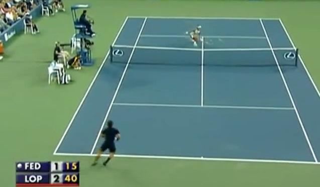 Feliciano Lopez vous montre comment breaker Roger Federer.