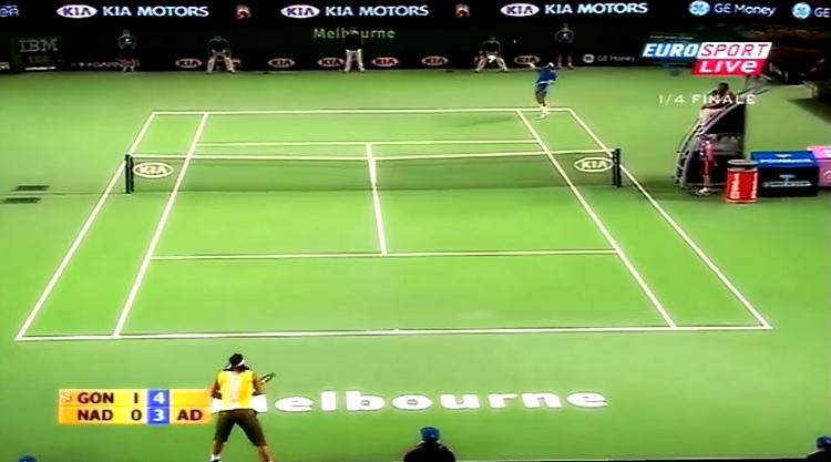 Fernando Gonzalez, un des plus gros coups droits de l'histoire du tennis.