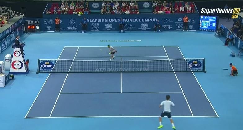Sympathique ce niveau de jeu entre Ferrer et Lopez