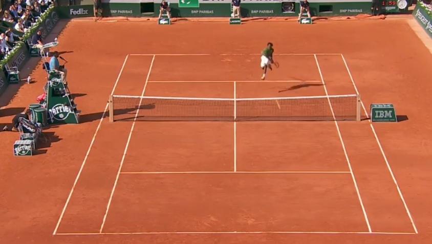 Ce coup droit de Gaël Monfils fait partie du Top 10 des points de Roland Garros 2015.