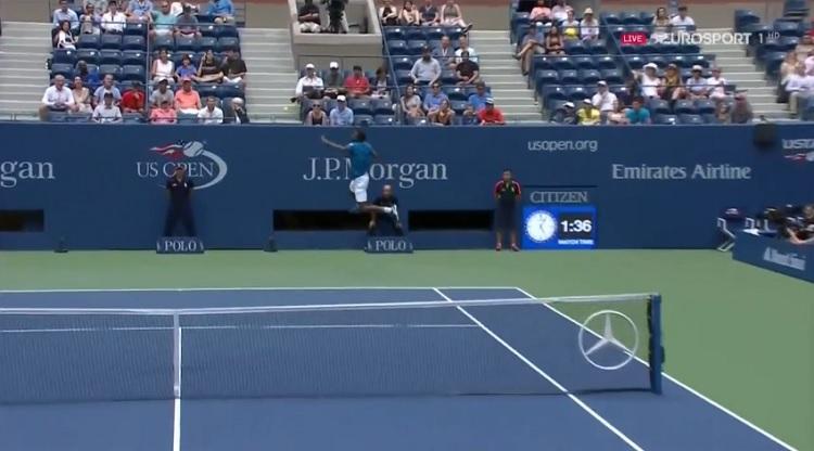 Gaël Monfils a tenté des coups incroyables au deuxième tour de l'US Open 2016.
