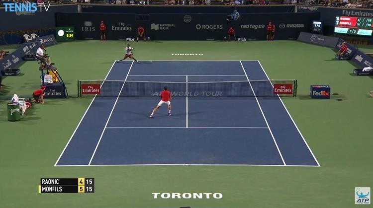 Gaël Monfils est monstrueux au Masters 1000 de Toronto.