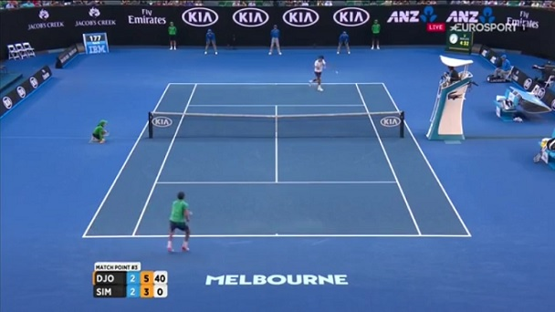 Gilles Simon a posé beaucoup de problèmes à Novak Djokovic.