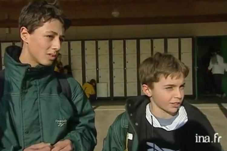 Le premier passage à la télévision de Gilles Simon.