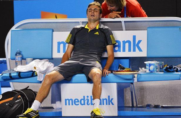 Gilles Simon à l'Open d'Australie 2013 (Reuters).