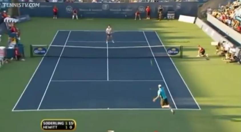 Une superbe défense de Lleyton Hewitt au Masters 1000 de Cincinnati 2010.