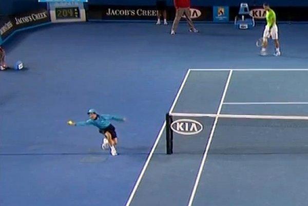 Le ramasseur de balle le plus connu de l'Open d'Australie.