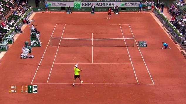La balle de match entre Verdasco et Gasquet fait partie des plus beaux points du Jour 8 à Roland Garros.