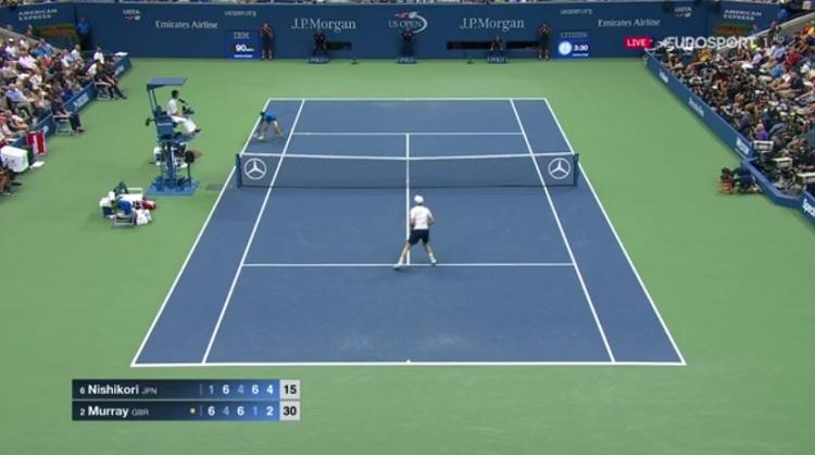 Le plus beau point du match entre Kei Nishikori et Andy Murray.