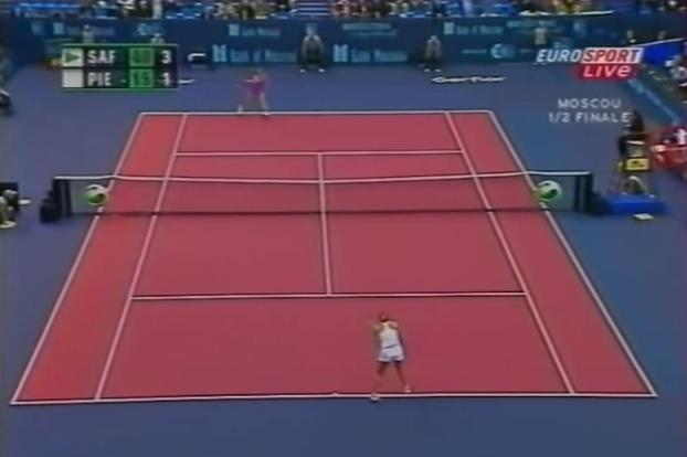 Mary Pierce s'engage totalement dans ce retour monstrueux au tournoi de Moscou 2005.