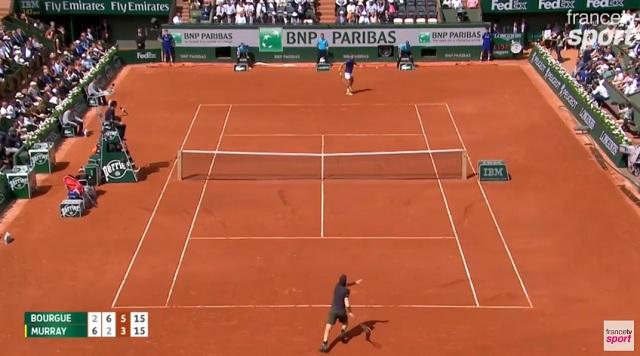 Mathias Bourgue est dans la zone face à Andy Murray