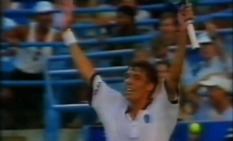 Un petit bijou de Michael Stich au tournoi de Cincinnati 1995.