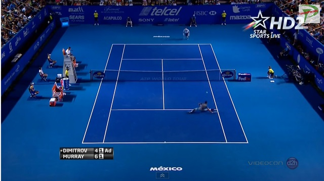 Un point hallucinant entre Andy Murray et Grigor Dimitrov à Acapulco.