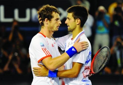 Andy Murray et Novak Djokovic ont livré une demi-finale épique à l'Open d'Australie 2012 (DR).