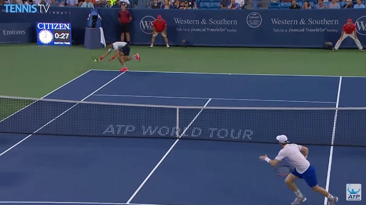 Il y a eu des points énormes entre Andy Murray et Milos Raonic.