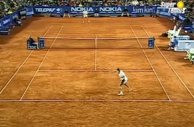 Le rouleau compresseur Thomas Muster en finale du Masters Series de Rome 1995.