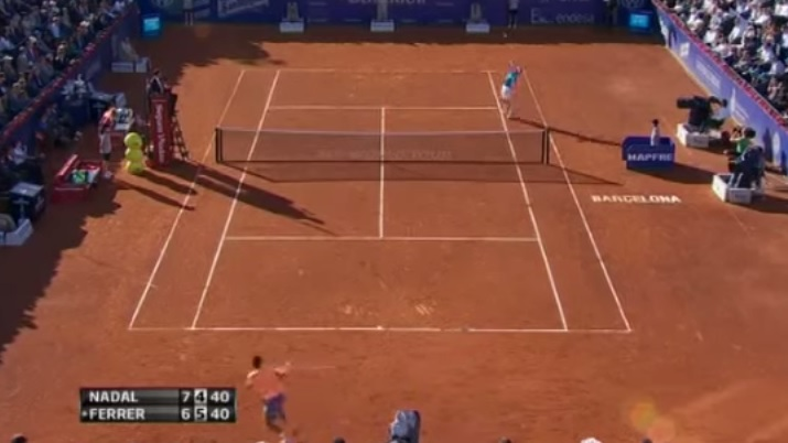 Un point qui a fait mal au cerveau de David Ferrer.