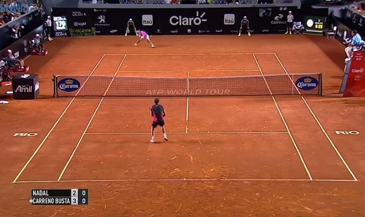 Rafael Nadal est toujours aussi impressionnant en passing.