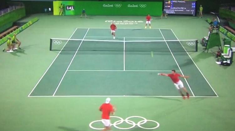 Rafa Nadal et Marc Lopez sont chauds en double aux J.O. de Rio.
