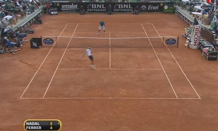 Un point de légende en finale du Masters 1000 de Rome 2010.