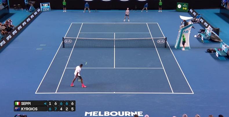 La nonchalance totale de Nick Kyrgios à 6/5 au der (Open d'Australie 2017)