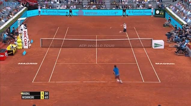 Kei Nishikori aura été impressionnant durant un set et demi en finale du Masters 1000 de Madrid 2014.