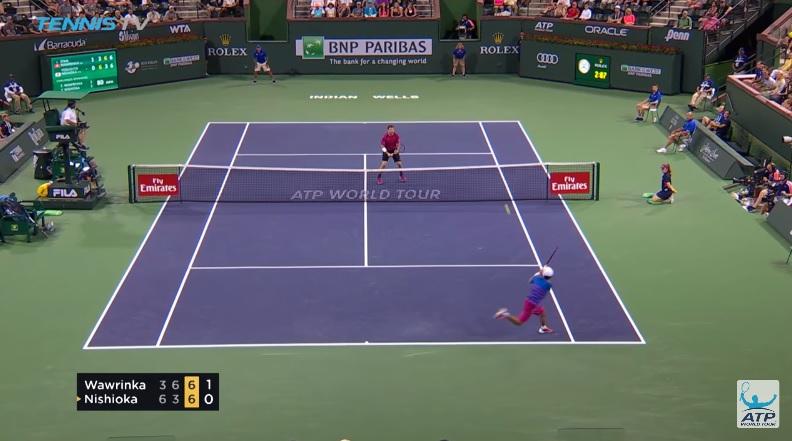 La défense magistrale de Yoshihito Nishioka contre Wawrinka (Indian Wells 2017)