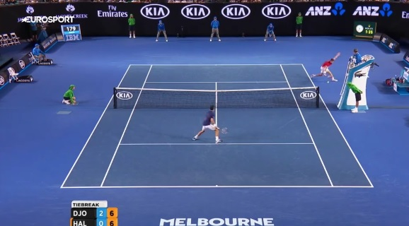 Il ne fallait pas rater ce point de Quentin Halys lors du Jour 3 de l'Open d'Australie 2016.
