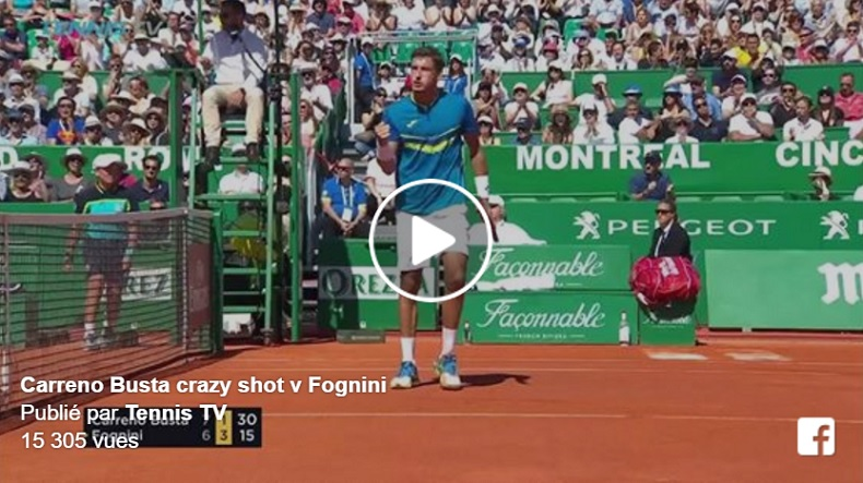 Le point magnifique de Pablo Carreno Busta (Monte-Carlo 2017)