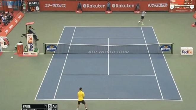 Ce revers de Benoît Paire pour remporter le deuxième set